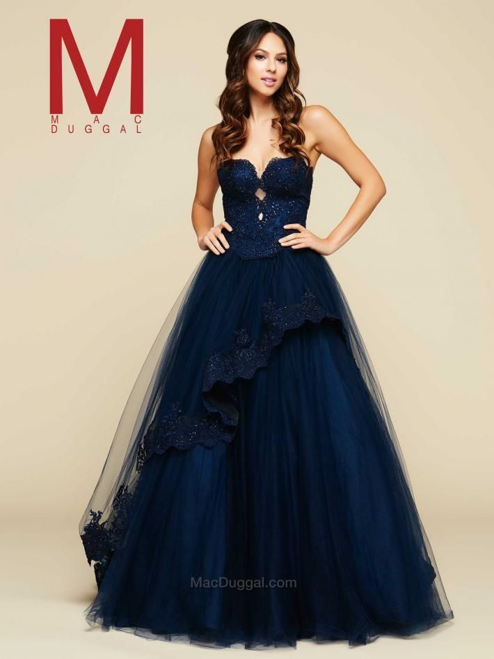 49862a36837 I just realized Mac Duggal has a new collection and they are like my fav  designer ever but I ll try to restrain me self Navy Ball Gown