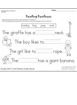 math worksheet : snapshot image of reading readiness worksheet 6 language arts  : Reading Readiness Worksheets Kindergarten