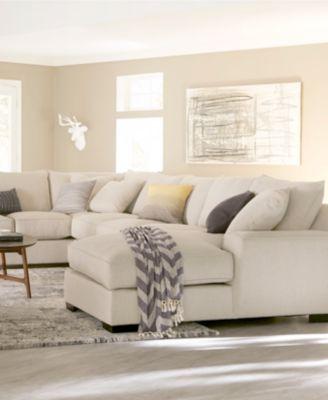 ainsley fabric sectional collection