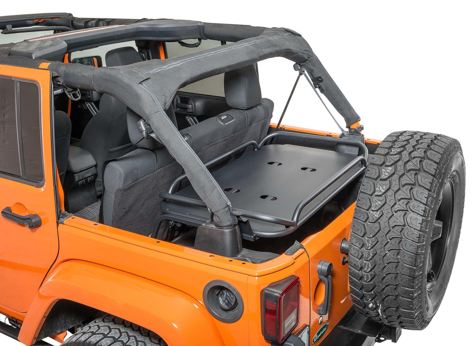 Rampage Products Rear Interior Sport Rack For 07 17 Jeep Wrangler Unlimited Jk 4 Door