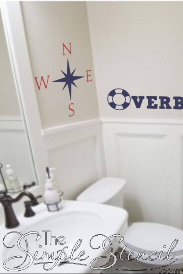 Easy to install vinyl decals look painted on & removable when you're ready for a change. 100's of beach related designs to choose from, customize and preview online. Highest quality materials and workmanship, made in the USA, since 2002, Satisfaction Guaranteed.   #Nautical #beachdecor #compass #compassart #beachhousedecor #beachhomedecor #nauticaldecor #nauticalthemedroom #nauticalideas #beachlover #beachart #beachthemed #beachdecorideas #nauticaldecorideas #bathroomdecor #bathdecorideas #decal