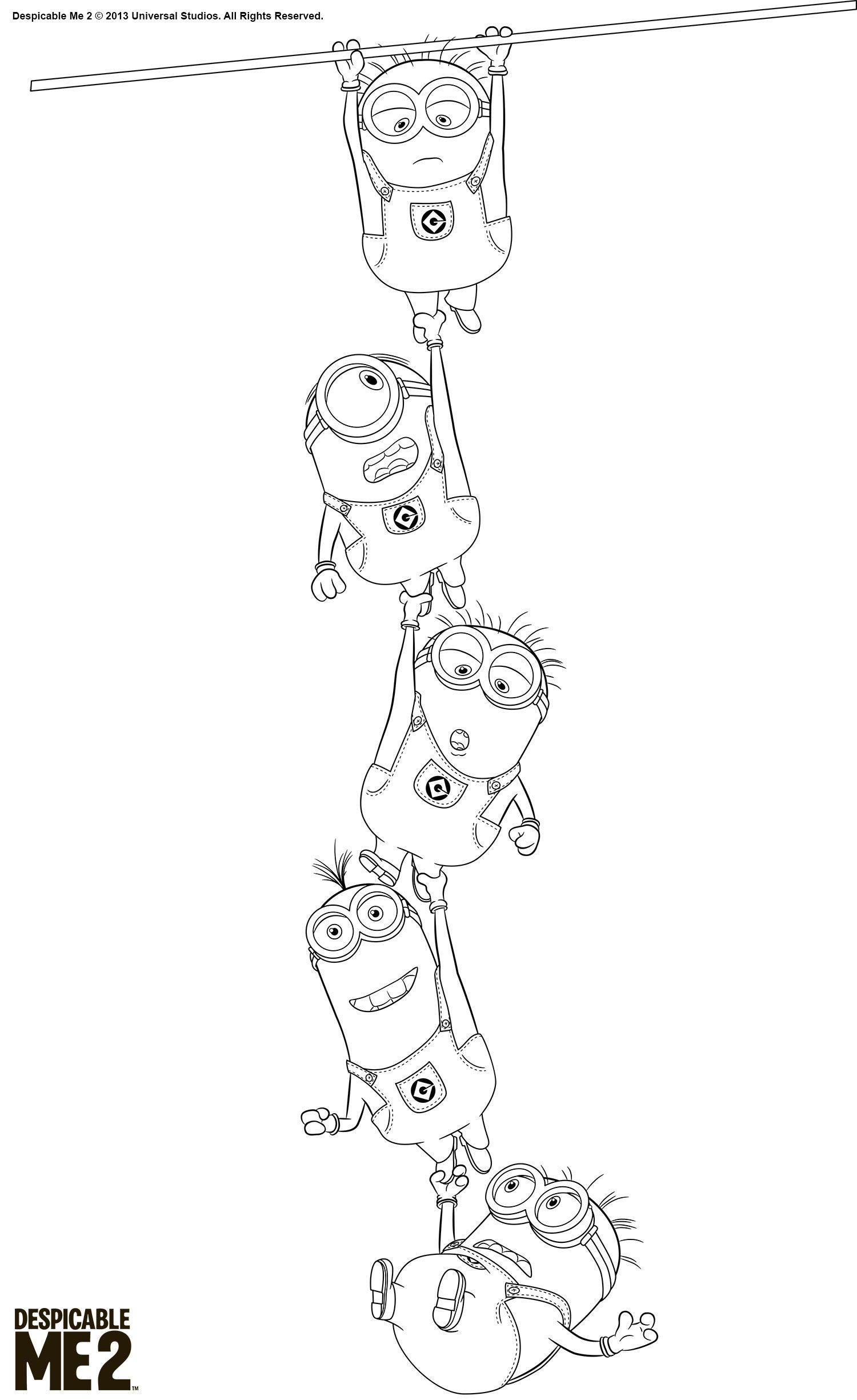 48+ Despicable me vector coloring pages info