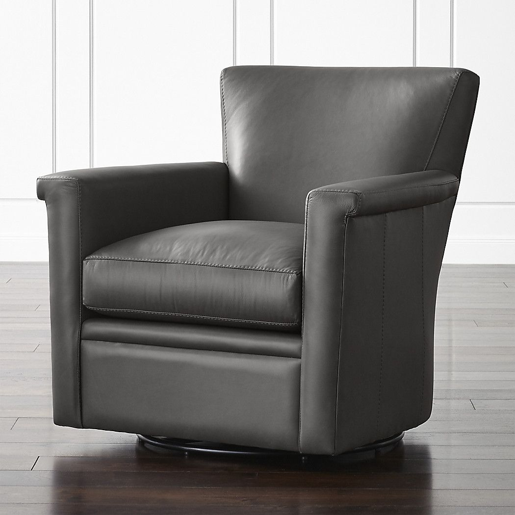 Declan Leather 360 Swivel Chair Reviews Crate And Barrel Swivel Chair Leather Swivel Chair Swivel Glider