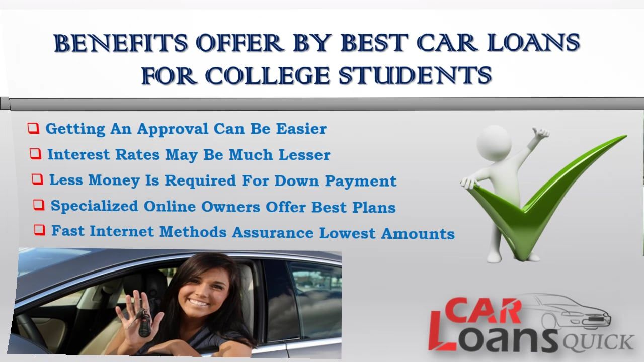 Guidelines to get low rates on college student car loans