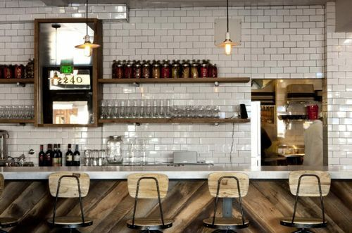 subway tile and pallet wall - Google Search