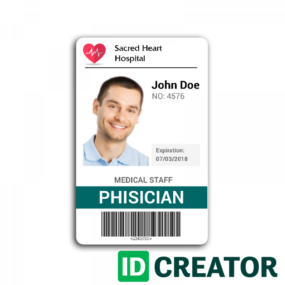 Doctor id card 2 template and card templates for Hospital id badge template