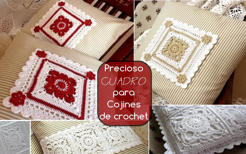 precioco cuadro para cojines de crochet | mi hobby crochet
