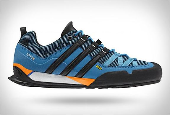 62840c13b5b Adidas have finetuned its lightweight Terrex Solo approach shoe using  legendary Stealth rubber