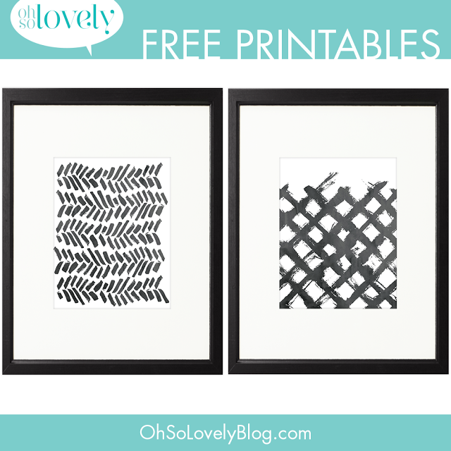 Oh So Lovely Blog: FREEBIES // MORE PAINT SWOOSH PRINTABLES