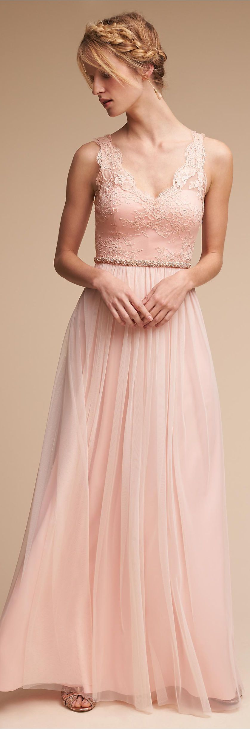 Blush lace Bridesmaid Dress | BHLDN | bridesmaids | Pinterest ...