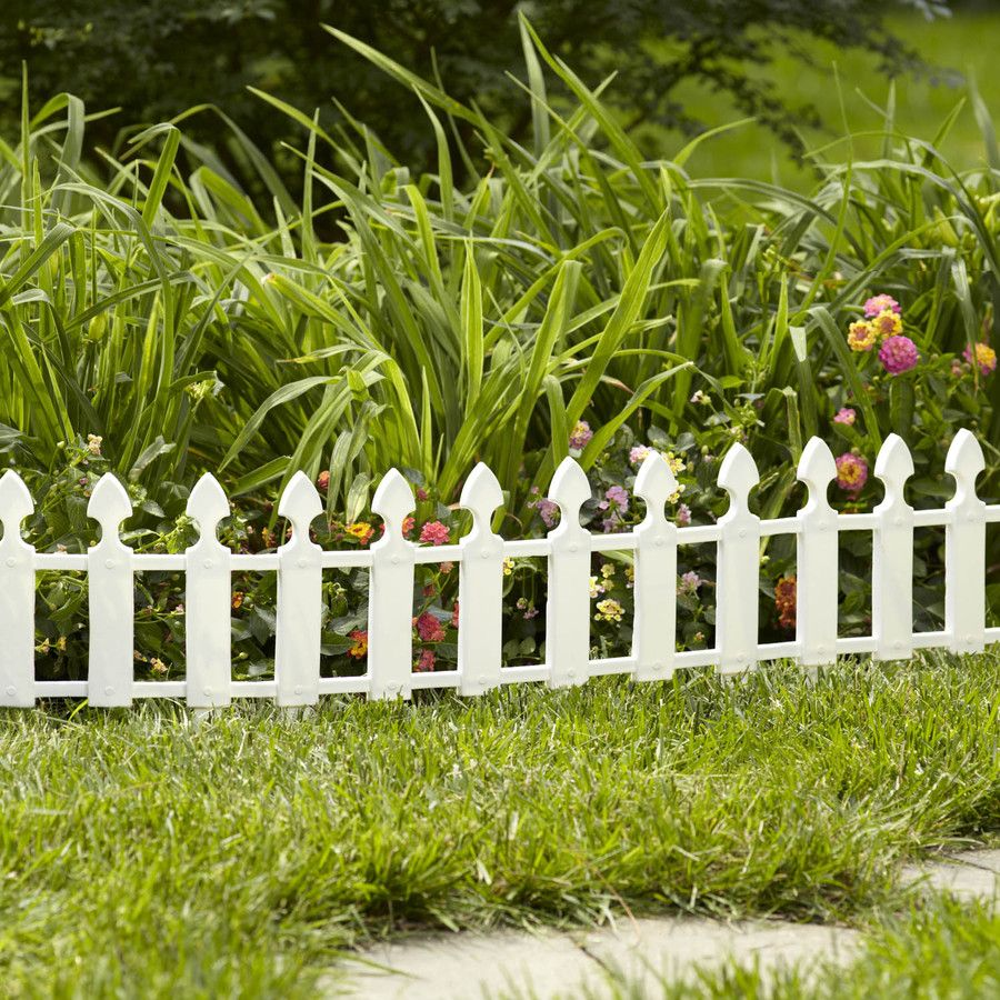 Shop Garden Treasures 12.7 In H X 24 In L Fence Border Fence At Lowes.com