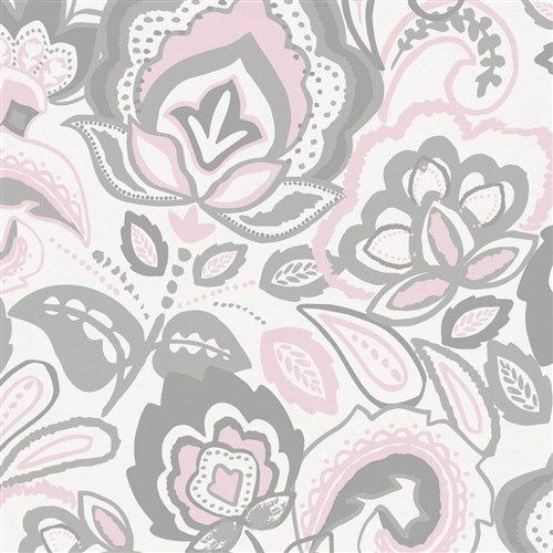 Best Pink And Gray Jacobean Fabric By The Yard Pink And Grey 400 x 300