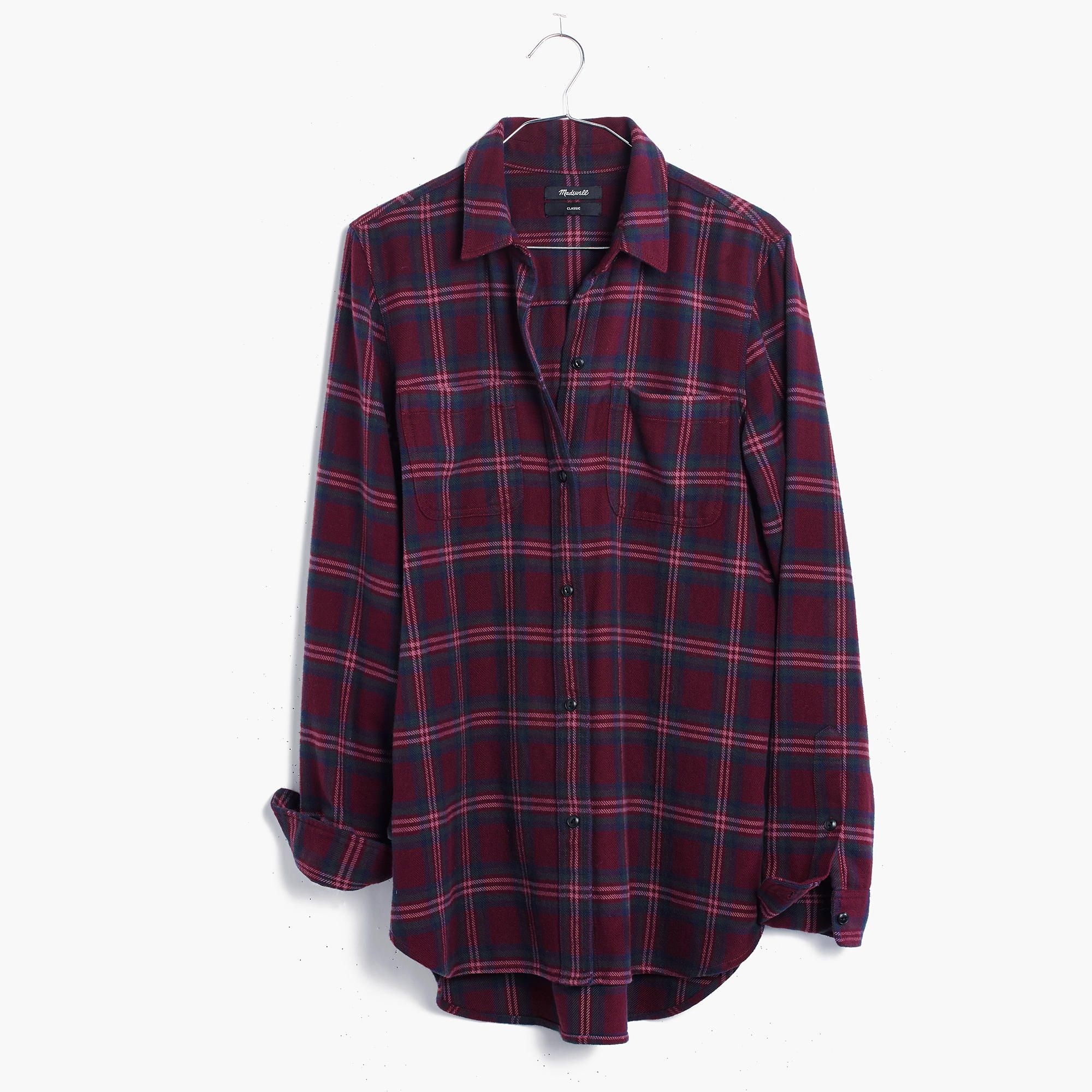 Flannel shirt outfits for women  Flannel Classic ExBoyfriend Shirt in Jensen Plaid  AllProducts