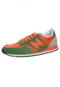 New Balance U420 Womens Retro Sneakers Green Orange Grey On ...