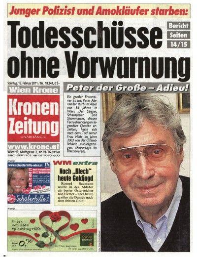 Kronen Zeitung Gesamt vom 13.02.2011