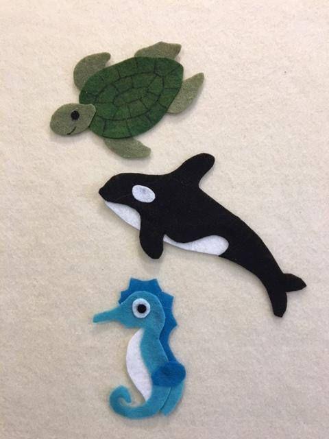 Under The Sea Felt Patterns To Make 16 Different Marine Animal Etsy Felt Patterns Felt Board Felt Books