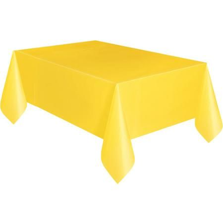 """Yellow Plastic Table Cover, 108"""" x 54"""""""