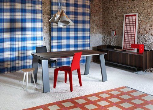 Miniforms義大利設計品牌 - Artù胡桃木伸縮桌 鋁合金桌板 白色橡木實木桌腳 原創設計 國外原裝進口 - Fingerprint | Pinkoi