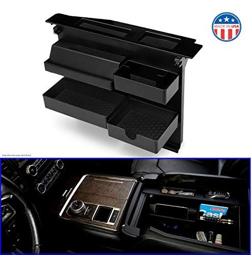 Salient Center Console Organizer for FORD Trucks and SUVs - Compatible with Select Ford F1...