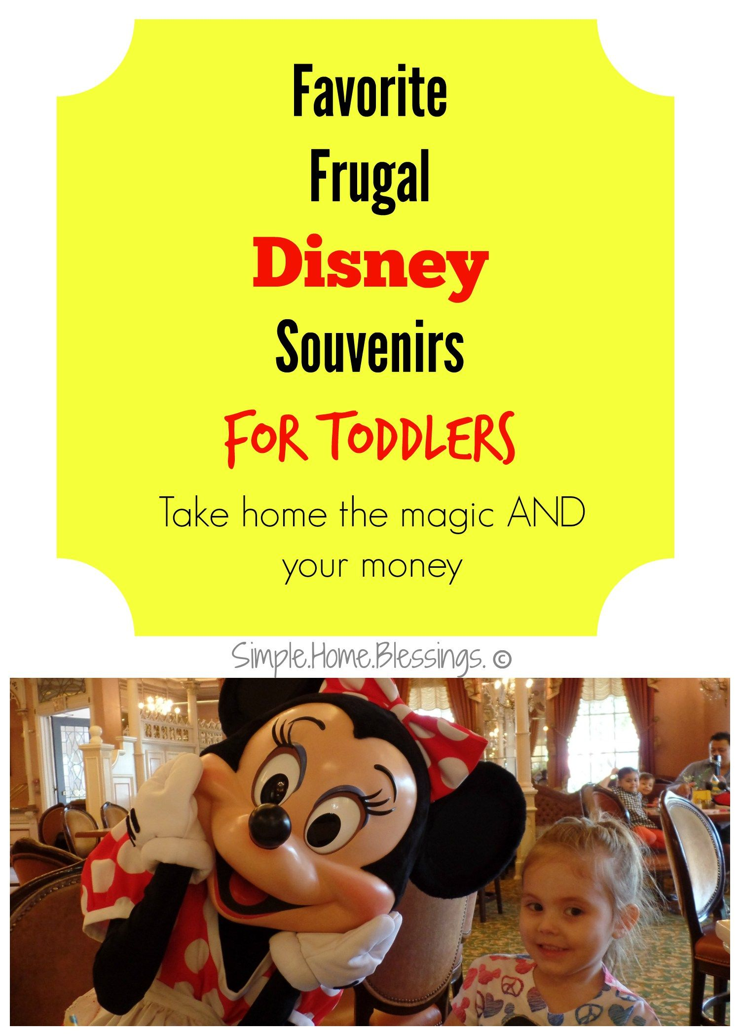 Favorite Picks for Disney Keepsakes for Toddlers - keep up with your budget and take something special home to remember your trip.