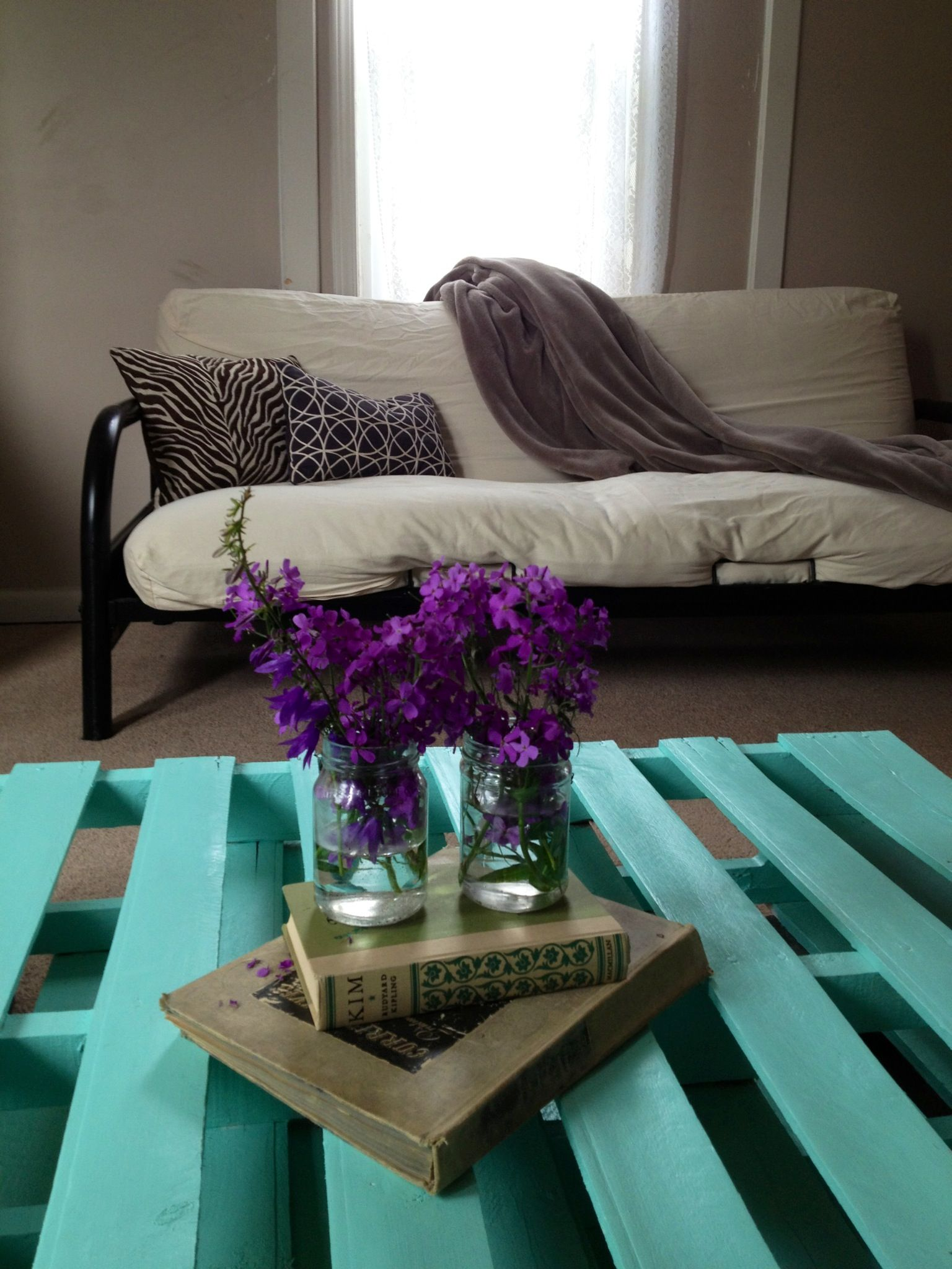 Living Room On A Budget Free Pallets Repurposed Into A