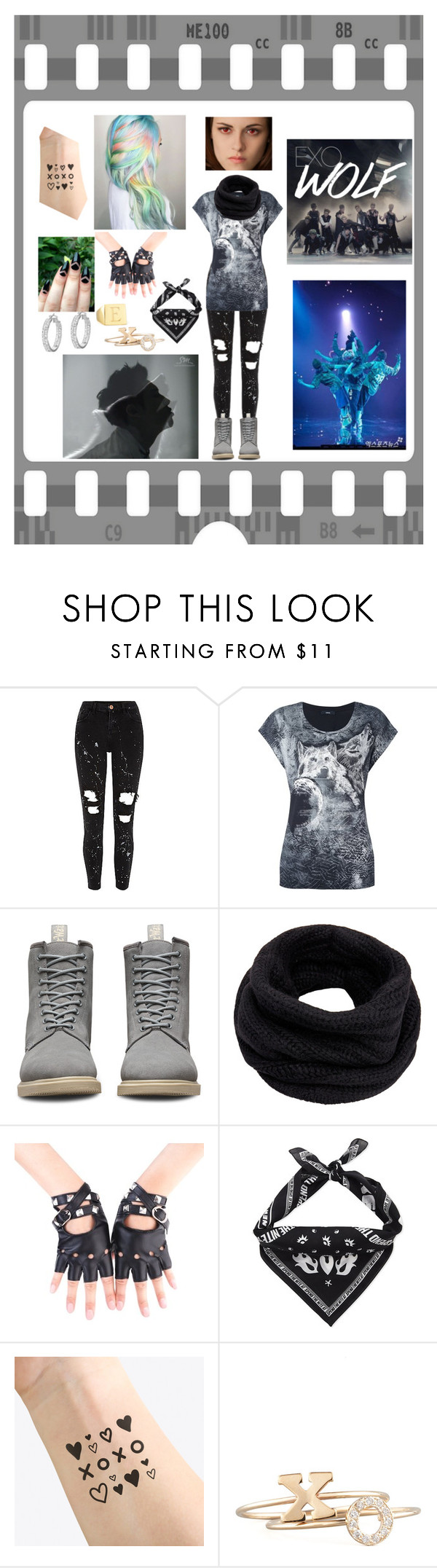 """""""EXO - WOLF"""" by bulletproof-wolfie on Polyvore featuring Diesel, Dr. Martens, Helmut Lang, Kenzo, NAVUCKO, Zoë Chicco and Sarah Chloe"""