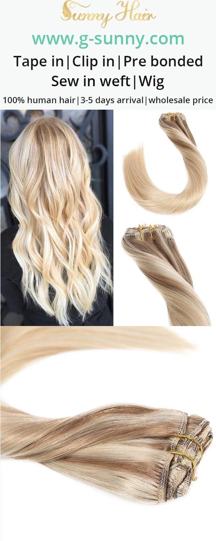 Sunny Hair 100 Real Human Hair Extensions Clip In Human Hair