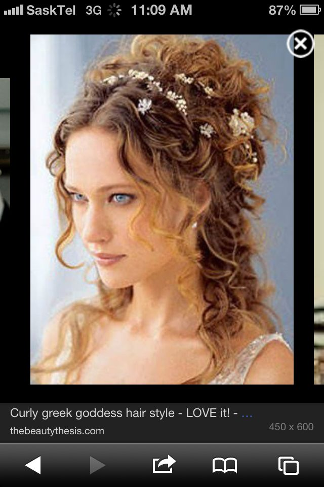 Greek goddess hair due