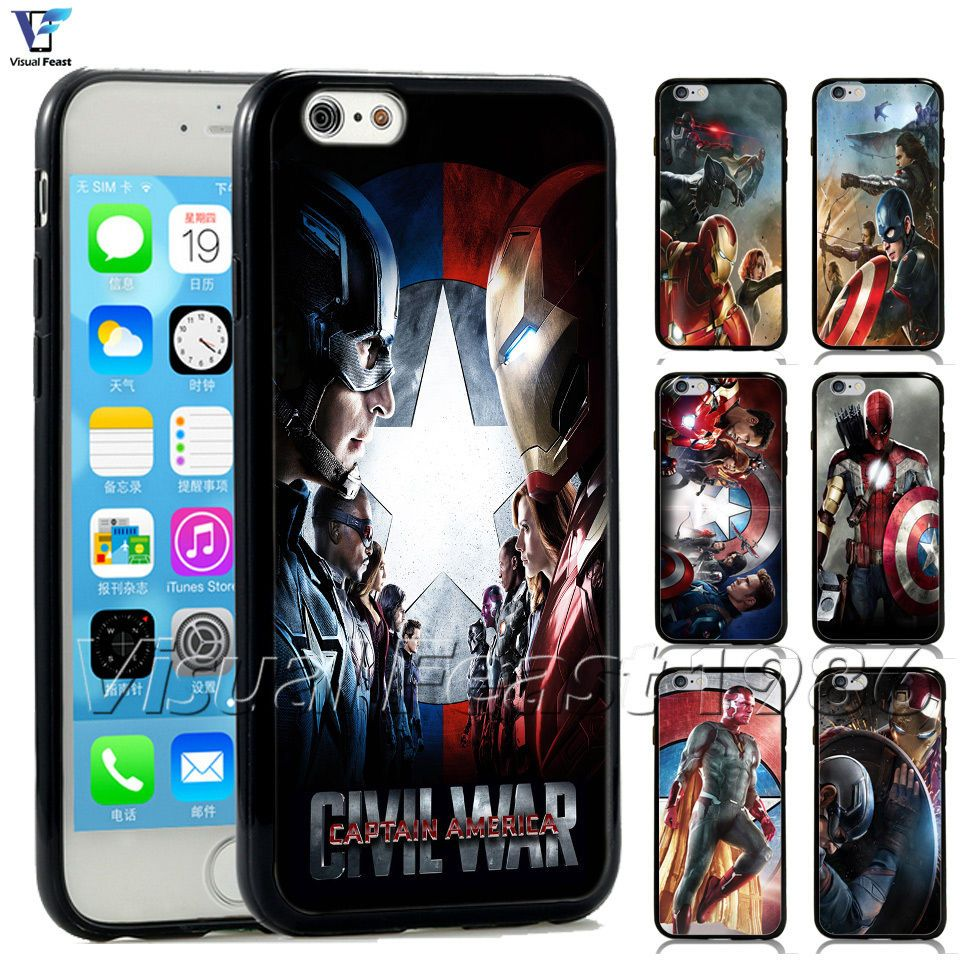 check out b4219 4d32b New Captain America Civil War Phone Case Marvel Movie For Iphone ...