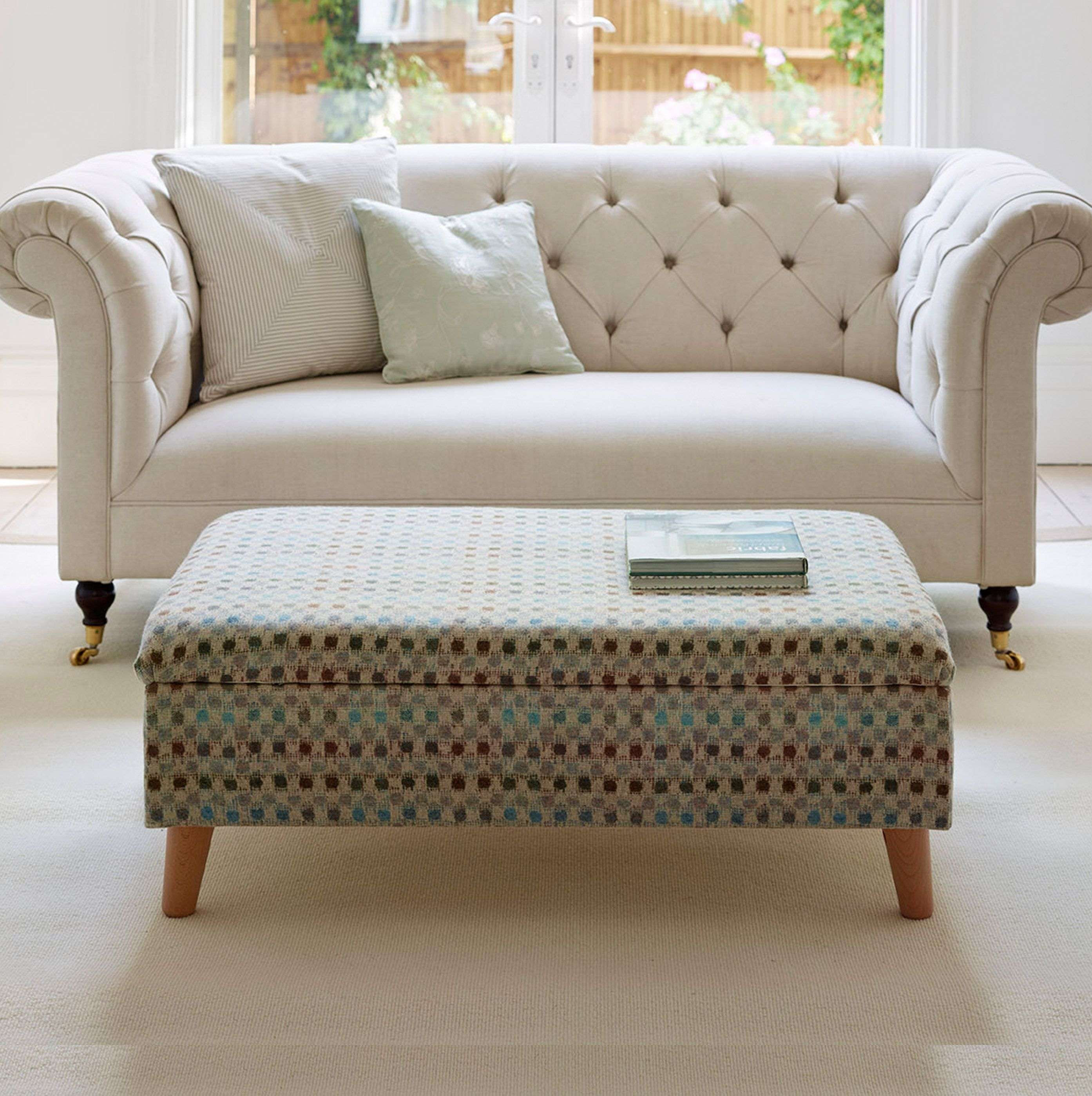 Storage Footstools With Small Retro Legs