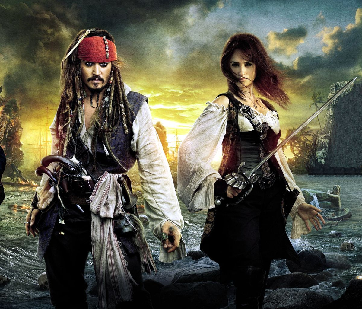 Pirates Of The Caribbean Wallpaper Hd: Penelope Cruz And Johnny Depp In Pirates Of The Caribbean