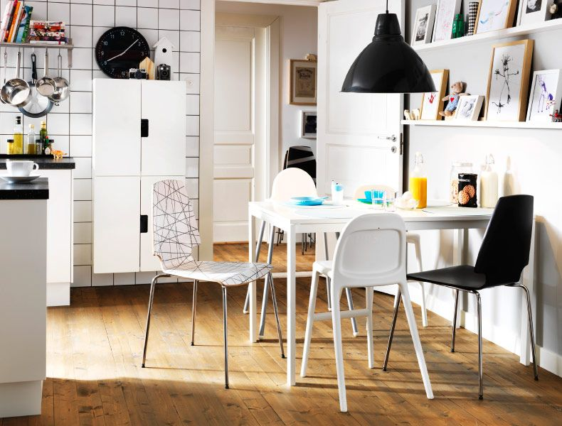 you can mix and match some inexpensive chairs from ikea to go with ...