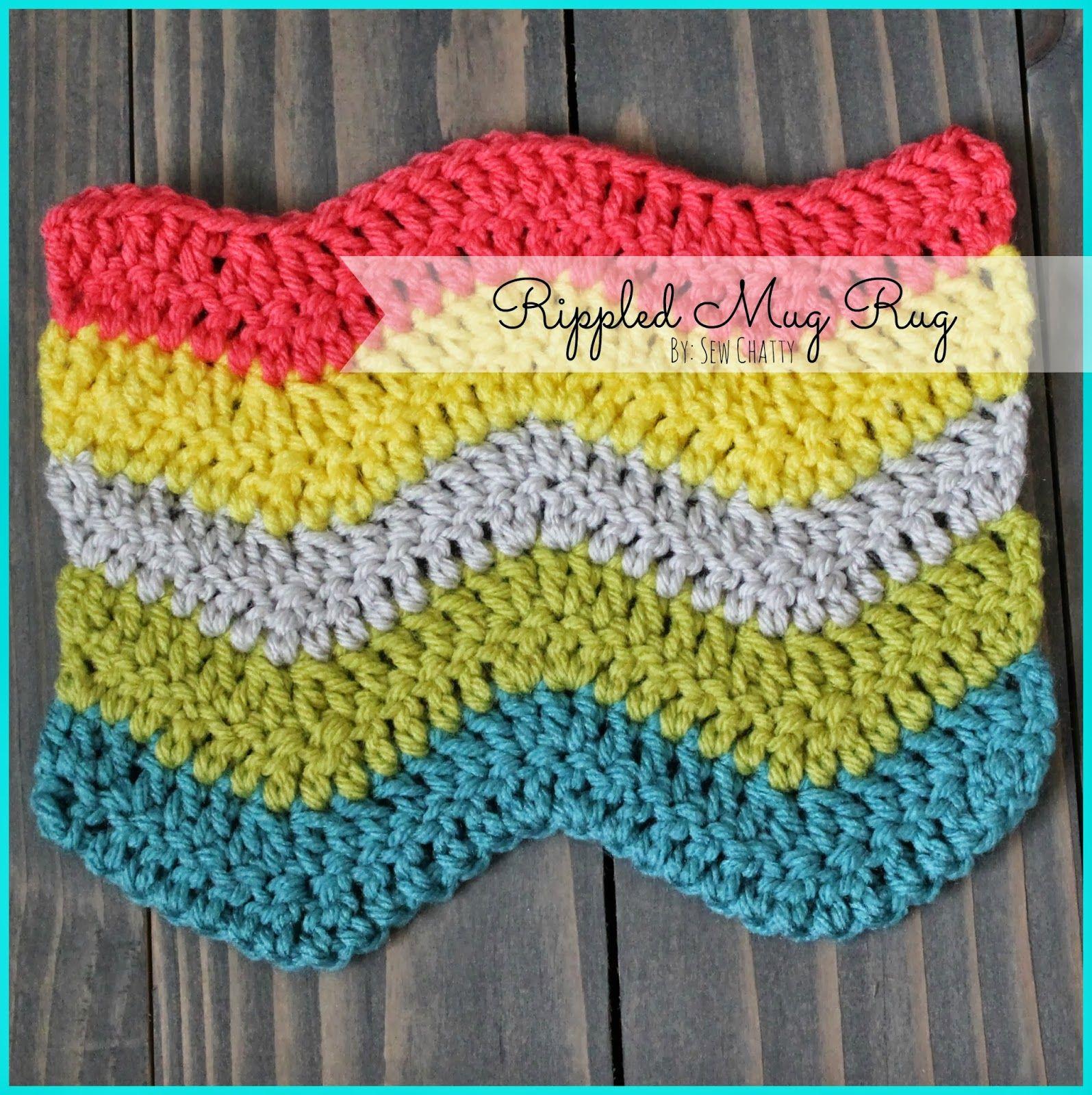 Sew Chatty: {Crochet Rippled Mug Rug Tutorial}   porta tazones ...