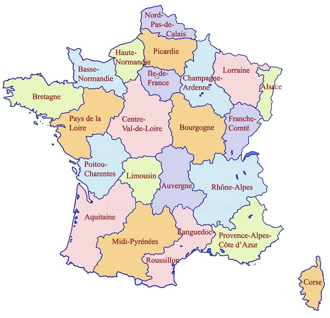 france map regions  The Curious Cartographer  Pinterest  France