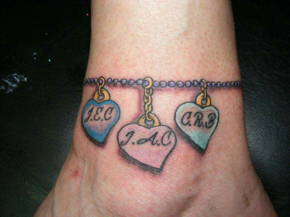 50 Heart Ankle Tattoos Bracelet Tattoos With Names Ankle Bracelet Tattoo Ankle Tattoos