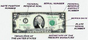 serial number dollar bill letters