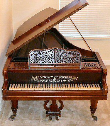 J B Streicher Concert Grand Piano Vienna 1866