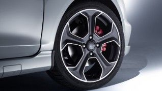 Fiesta St200 Matt Black Alloy Wheels With Red Calipers Ford Fiesta Ford Porsche Cars