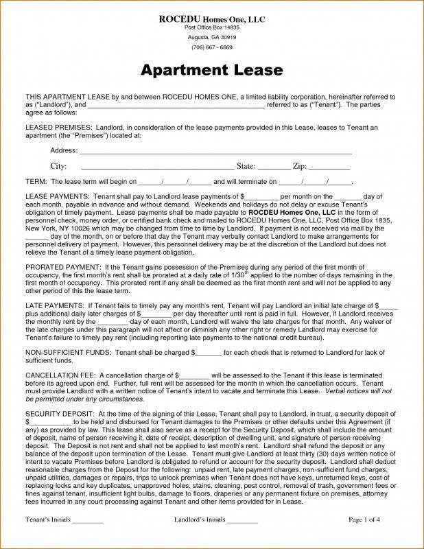 Room Leasing Agreement template Pinterest Template