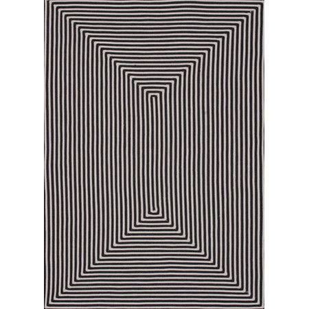 Inspired by optical art designs, this stylish handmade rug makes a bold addition to your office or library.  Product: Rug