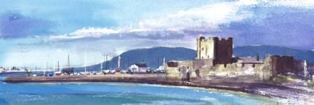 Carrickfergus Castle, Landscape/ Townscape, Patricia Logue, SAA Professional Members' Galleries