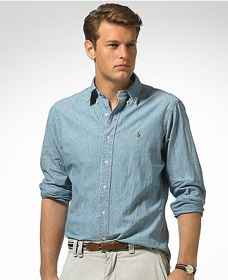 9c2173c64e Polo Ralph Lauren Shirt, Classic Fit Denim - Mens Shirts - Fall wear at  office, even w my jeans on wk ends!