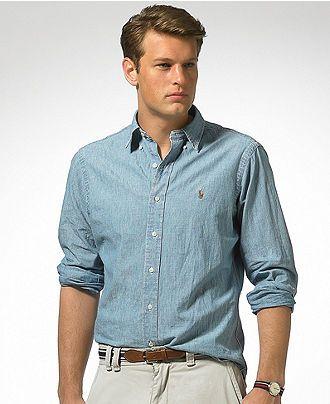 Polo Ralph Lauren Shirt, Classic Fit Denim - Mens Shirts - Fall wear at  office