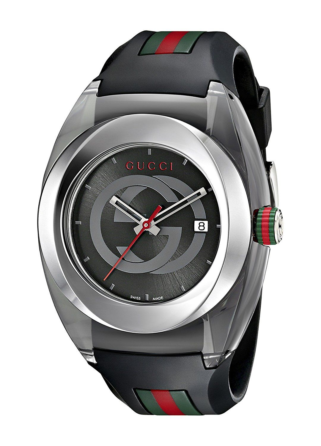 03acb664258 Gucci SYNC XXL YA137101 Stainless Steel Watch with Black Rubber Bracelet     Read more reviews of the product by visiting the link on the image.