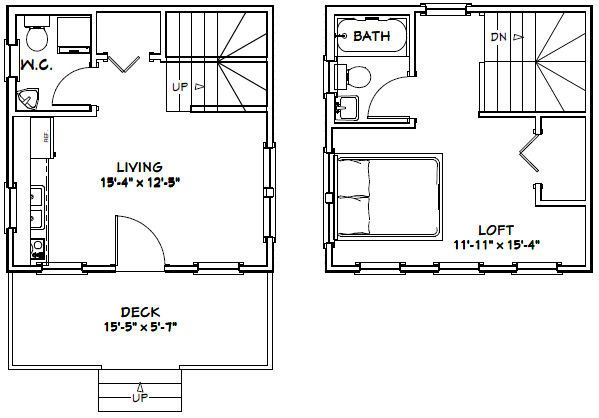 16x16 Tiny House Pdf House Plans Garage Plans Shed Plans