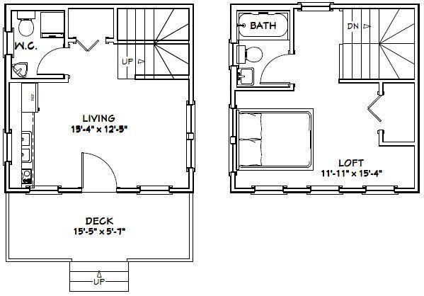 16x16 Tiny House Pdf House Plans Garage Plans Shed Plans