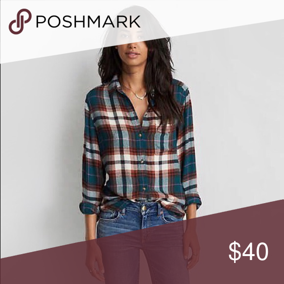 b0e7f5b0327 Ahh-mazingly Soft Plaid Flannel Button Down Shirt We re stealing this one  from the boys and we re not giving it back. Boyfriend fit button-down shirt  in an ...