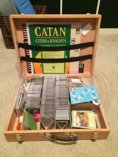 Diy Dominion Card Game Travel Box Travel Box Card Games Diy Box