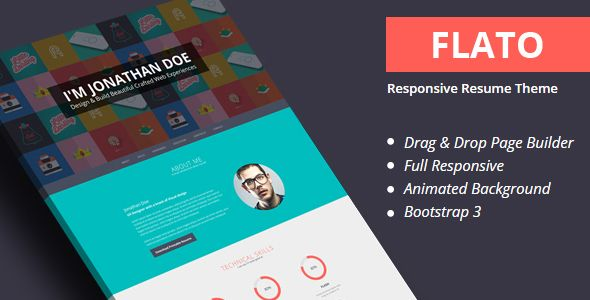 Flatoo   VCard, Resume, Personal WordPress Theme