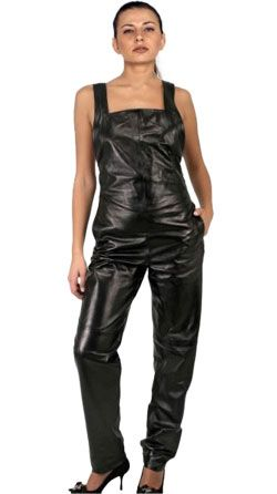 up-to-datestyling lovely design provide large selection of Stylish Wide Strapped Leather Jumpsuit for women | Leather ...